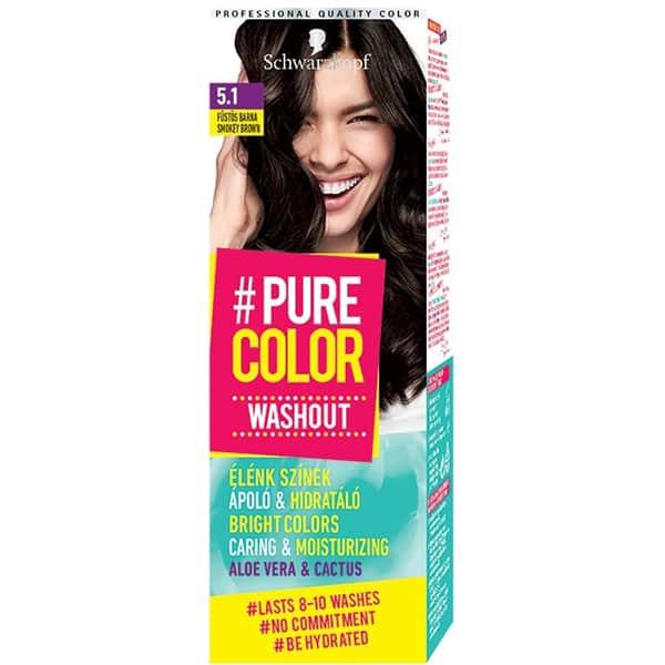 Vopsea de par SCHWARZKOPF Pure Color Washout, 5.1 Smokey Brown, 60ml