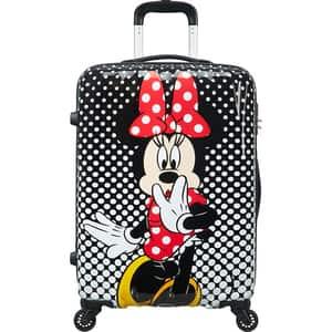 Troler AMERICAN TOURISTER Spinner Disney Legends Alfatwist 2.0 Minnie Mouse Polka Dot, 65 cm, multicolor