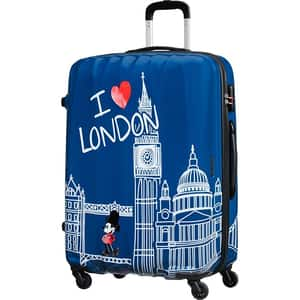 Troler AMERICAN TOURISTER Spinner Disney Legends Alfatwist 2.0 Take Me Away Minnie London, 75 cm, multicolor