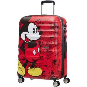 Troler AMERICAN TOURISTER Spinner Wavebreaker Disney Mickey Comics, 67 cm, rosu