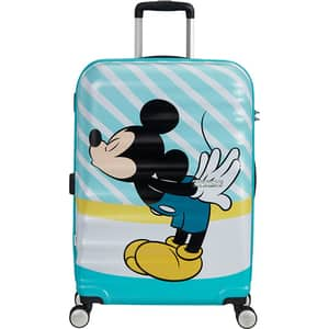 Troler AMERICAN TOURISTER Spinner Wavebreaker Disney Mickey Blue Kiss, 67 cm, multicolor