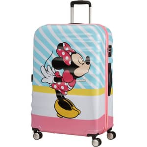 Troler AMERICAN TOURISTER Spinner Wavebreaker Disney Minnie Pink Kiss, 77 cm, multicolor