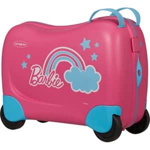 Troler copii SAMSONITE Dream Rider Disney Barbie , 37 cm, roz