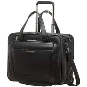 Troler laptop SAMSONITE Pro-DLX 5 LTH Business, 33 cm, negru