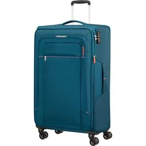 Troler AMERICAN TOURISTER Spinner Crosstrack, 79 cm, albastru
