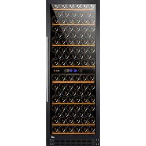 Racitor de vinuri VORTEX VWC27SBK02G, 132 sticle, H 162.5 cm, Clasa G, negru