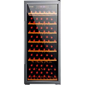 Racitor de vinuri VORTEX VWC38SBK01G, 157 sticle, H 140 cm, Clasa G, negru