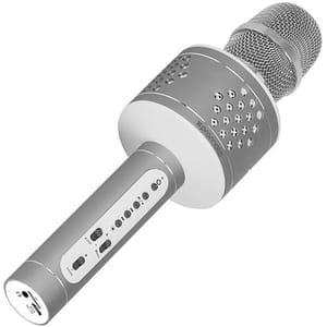 Microfon Karaoke PROMATE VOCALMIC-3, Bluetooth, Boxa portabila, gri