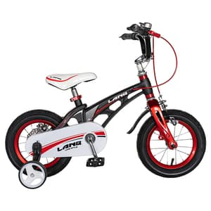 "Bicicleta baieti LANQ W1246D, 12"", negru-rosu"