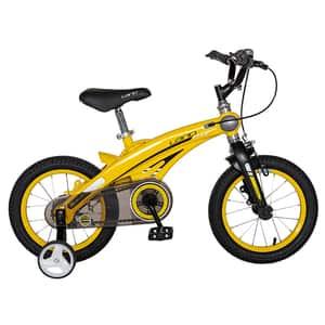 "Bicicleta baieti LANQ W1439D, 14"", galben-negru"