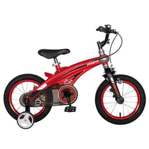 "Bicicleta baieti LANQ W1439D, 14"", rosu-negru"