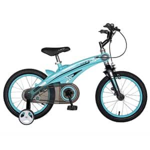 "Bicicleta baieti LANQ W1639D, 16"", albastru-negru"