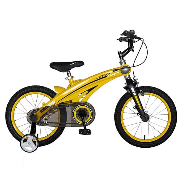 "Bicicleta baieti LANQ W1639D, 16"", galben-negru"