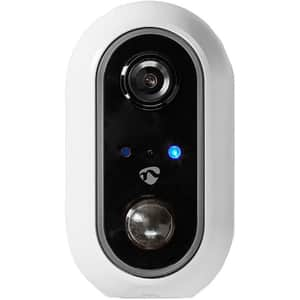 Camera IP Wireless NEDIS WIFICBO20WT, Full HD 1080p, IR, Night Vision, alb