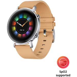 Smartwatch HUAWEI Watch GT 2 42mm, Android/iOS, Leather Strap, Classic Edition, Gravel Biege