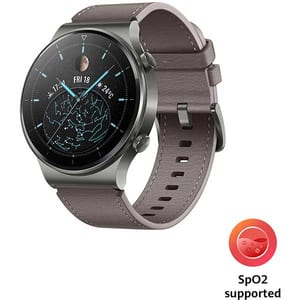 Smartwatch HUAWEI Watch GT 2 Pro, Android/iOS, piele, Nebula Gray