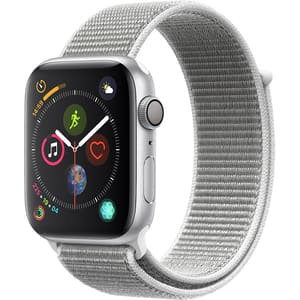 APPLE Watch Series 4 44mm Silver Aluminium Case, Seashell Sport Loop