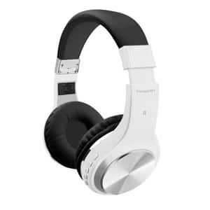 Casti PROMATE Tango-BT, Bluetooth, On-Ear, Microfon, alb