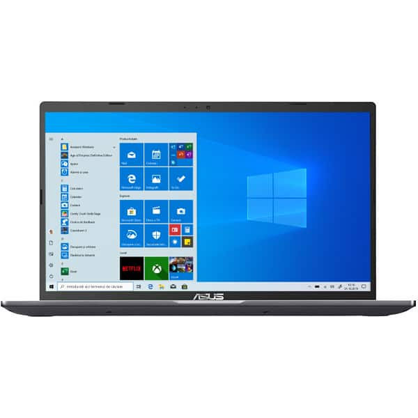 """Laptop ASUS X509JA-EJ030R, Intel Core i5-1035G1 pana la 3.6GHz, 15.6"""" Full HD, 8GB, SSD 512GB, Intel UHD Graphics, Windows 10 Pro, gri"""