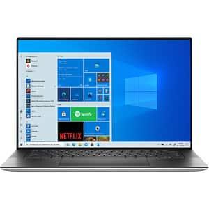 "Laptop DELL XPS 15 9510, Intel Core i9-11900H pana la 4.9GHz, 15.6"" 3.5K OLED Touch, 32GB, SSD 1TB, NVIDIA GeForce RTX 3050 Ti 4GB, Windows 10 Pro, argintiu"