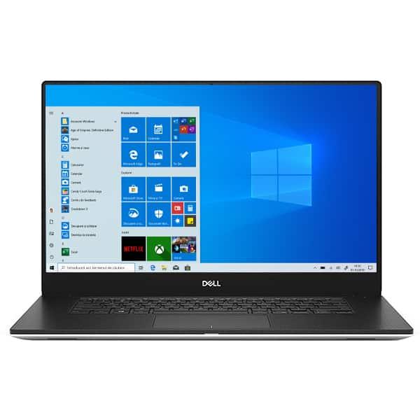 """Laptop DELL XPS 15 7590, Intel Core i7-9750H pana la 4.5GHz, 15.6"""" Full HD, 16GB, SSD 1TB, NVIDIA GeForce GTX 1650 4GB, Windows 10 Pro, argintiu"""