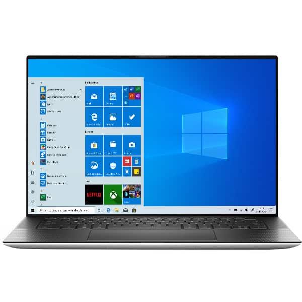"""Laptop DELL XPS 9500, Intel Core i7-10750H pana la 5GHz, 15.6"""" UHD+, 32GB, SSD 1TB, NVIDIA GeForce GTX 1650 Ti 4GB, Windows 10 Pro, argintiu"""