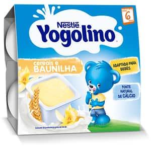 Gustare NESTLE Yogolino Gris cu lapte si vanilie 12344622, 6 luni+, 4 x 100g
