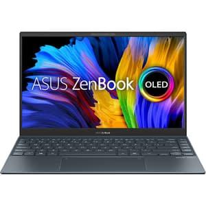 "Laptop ASUS Zenbook 13 OLED UX325EA-KG257, Intel Core i7-1165G7 pana la 4.7GHz, 13.3"" Full HD, 8GB, SSD 512GB, Intel Iris Xe Graphics, Free Dos, gri"