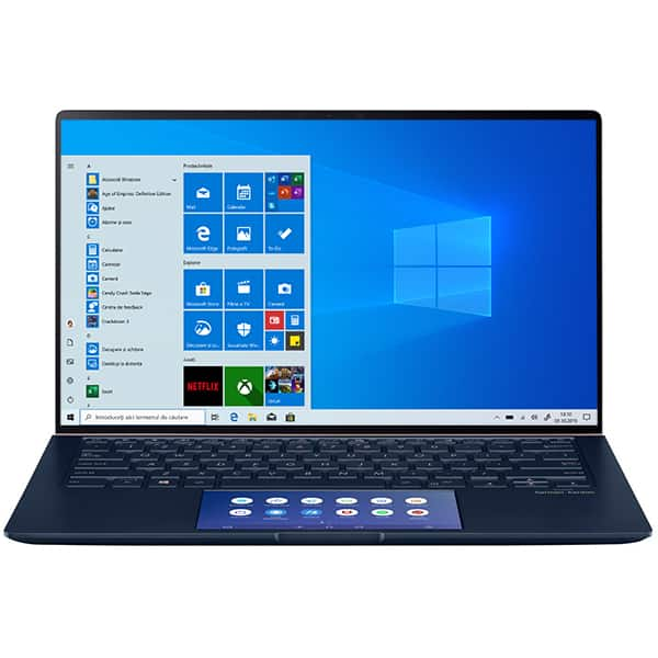 "Laptop ASUS ZenBook 14 UX434FAC-A5169R, Intel Core i7-10510U pana la 4.9GHz, 14"" Full HD, 16GB, SSD 512GB, Intel UHD Graphics 620, Windows 10 Pro, Royal Blue"