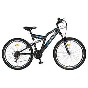 """Bicicleta de munte RICH R2449A, 24"""", cadru otel, negru-albastru"""