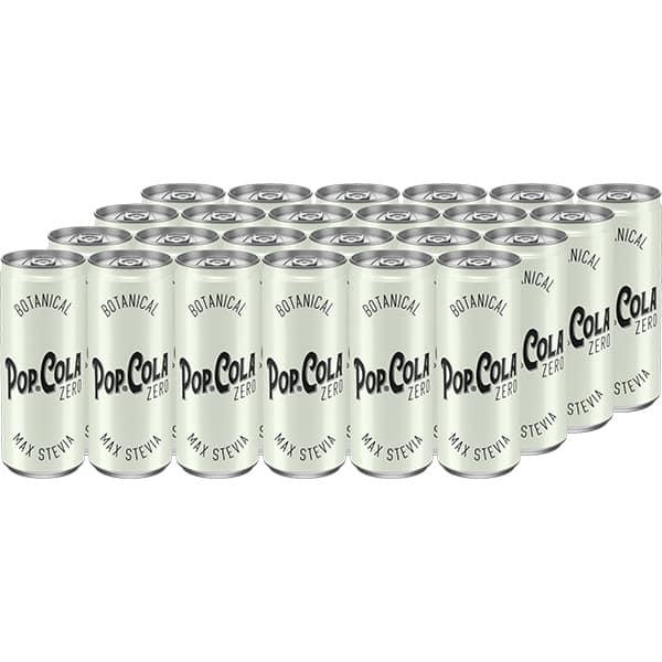 Bautura racoritoare carbogazoasa POP-COLA Zero bax 0.33L x 24 doze