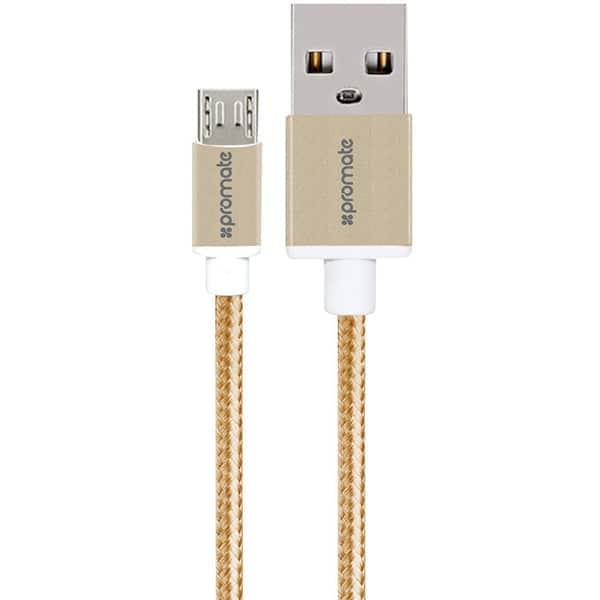 Cablu date PROMATE linkMate-U2M, microUSB, 1.2m, Gold