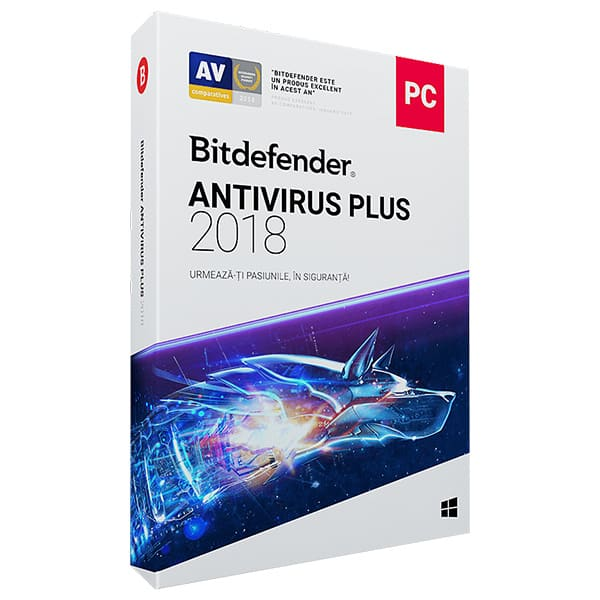 BITDEFENDER Antivirus Plus 2018, 1 an, 2 PC