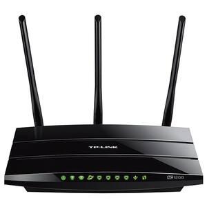 Router Wireless Gigabit TP-LINK Archer C1200, Dual-Band 300 + 867 Mbps, USB 2.0, negru