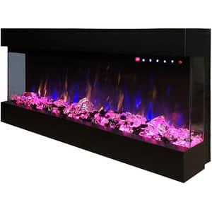 Focar electric 3D incorporabil ART FLAME Dalas, 1500W, Telecomanda, negru