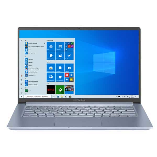 "Laptop ASUS VivoBook 14 X403JA-BM004T, Intel Core i5-1035G1 pana la 3.6GHz, 14"" Full HD, 8GB, SSD 256GB, Intel UHD Graphics, Windows 10 Home, Silver Blue"