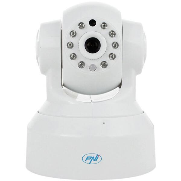 Camera IP Wireless PNI SmartHome SM460, HD 720p, IR, Night Vision, alb