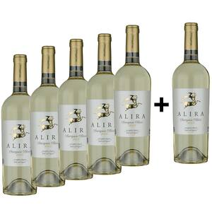 Vin alb sec Alira Sauvignon Blanc 5+1, 0.75L