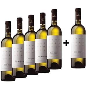 Vin alb sec Corcova Chardonnay, 0.75L, 5+1 sticle