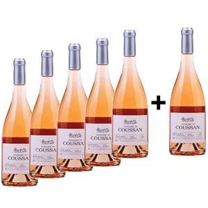 Vin rose sec Domaine de Coussan Rose, 0.75L, 5+1 sticle