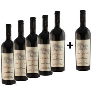 Vin rosu sec La Migdali Feteasca Neagra, 0.75L, 5+1 sticle