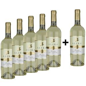 Vin alb sec Alira Flamma Sauvignon Blanc, 0.75L, 5+1 sticle