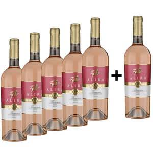 Vin rose sec Alira Flamma Rose, 0.75L, 5+1 sticle