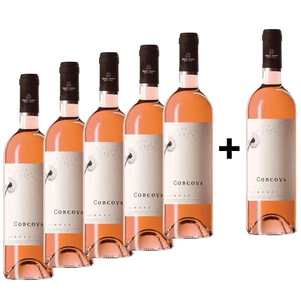 Vin rose sec Corcova Rose, 0.75L, 5+1 sticle