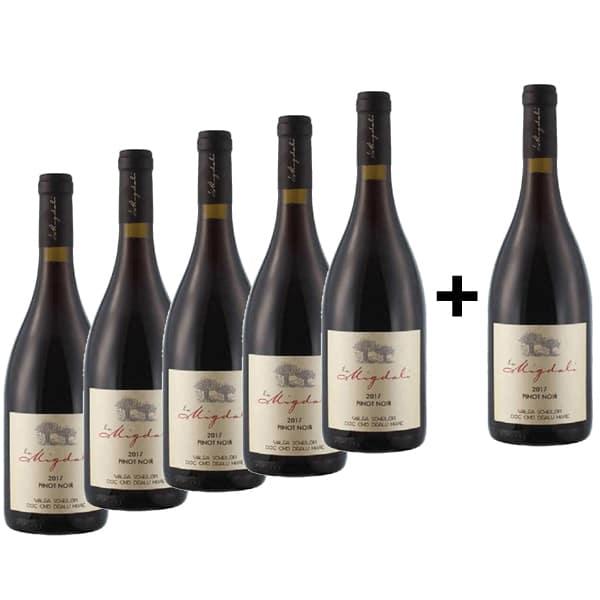 Vin rosu sec La Migdali Pinot Noir, 0.75L, 5+1 sticle