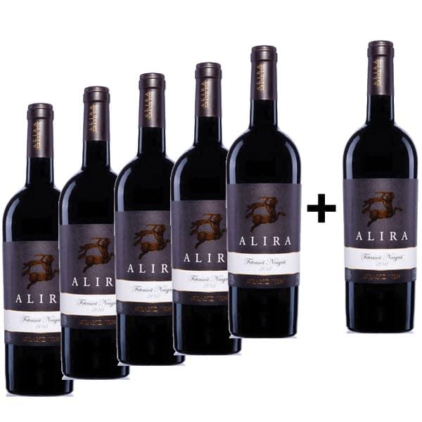 Vin rosu sec Alira Grand Vin Feteasca Neagra, 0.75L, 5+1 sticle