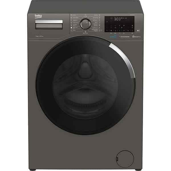 Masina de spalat rufe frontala BEKO WUE8736XCM, HomeWhiz, 8kg, 1400rpm, Clasa C, gri inchis