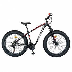 """Bicicleta Fat Bike CARPAT C2600H, 26"""", cadru aluminiu, negru-gri-rosu"""