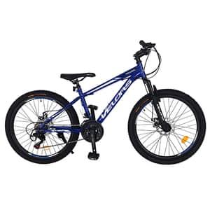 "Bicicleta MTB VELORS V2410A, 24"", otel, albastru-negru"