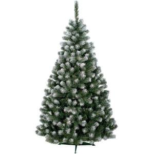 Brad artificial cu varfuri ninse BRAZIDELUX Carolina, 120 cm, verde-alb